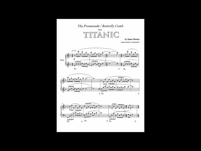 Titanic - Promenade / Butterfly Comb - Piano
