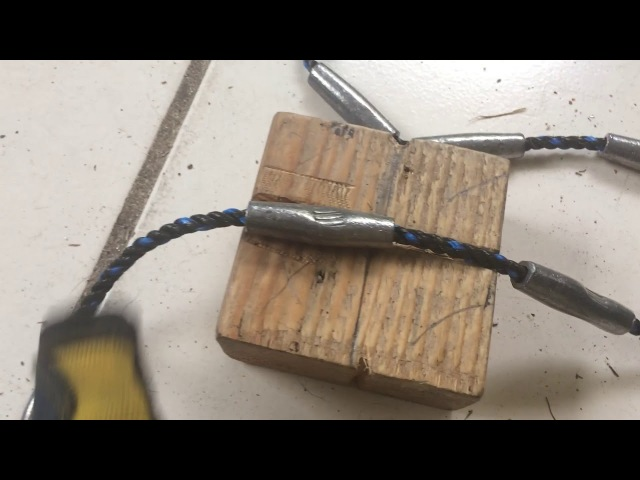 Making cast net : Loading Lead line