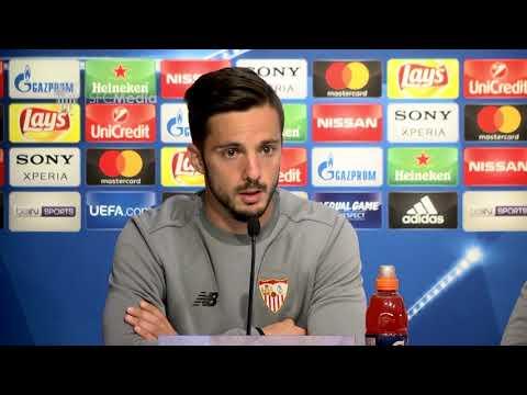 Sarabia: Tenemos que dejar de lado la presión, porque eso sólo te resta. 02/04/18. Sevilla FC