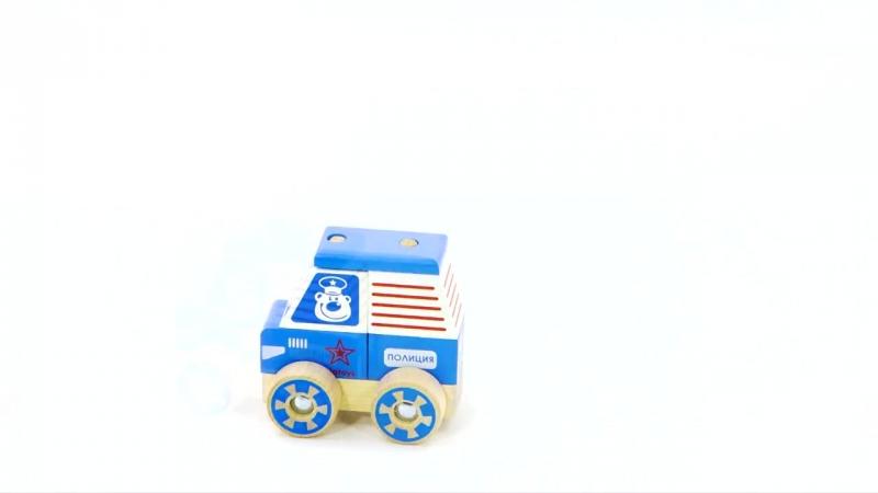 Конструктор каталка Полицейская машина ККМ 04 - развивающие игрушки Alatoys (Ала