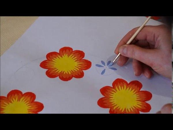 Петриківський розпис Віночок Petrikov of flowers