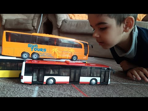 Toy Siku Bus unboxing Dlan playing with toy cars and buses