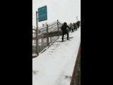 Лестница на платформе