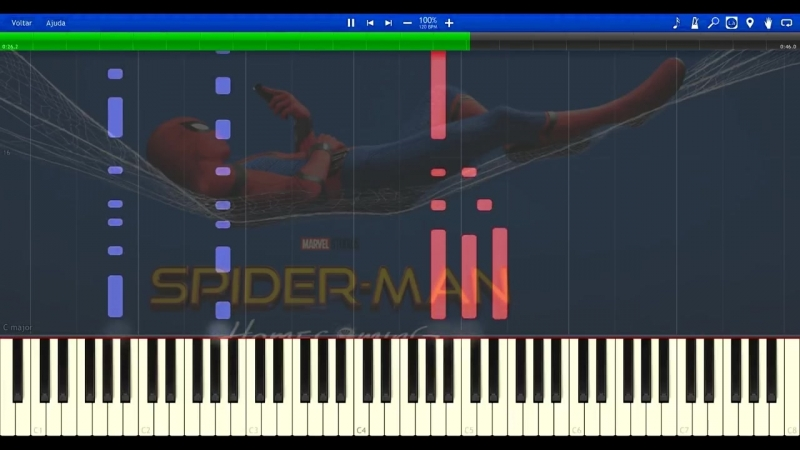 [Fontenele NXT] Spider-Man Homecoming Theme - Synthesia Piano Tutorial