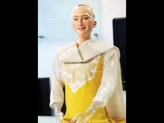 World's first citizen robot Sophia at Inauguration ceremony of Digital world 2017 in Dhaka, Bangladesh.