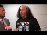 WWE Monday Night RAW 02.04.2018 - Matt Hardy backstage interview