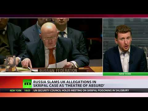 THEATER OF ABSURD RUSSIAN ENVOY SHOWS UK VERSION OF SKRIPAL CASE FALLS APART.
