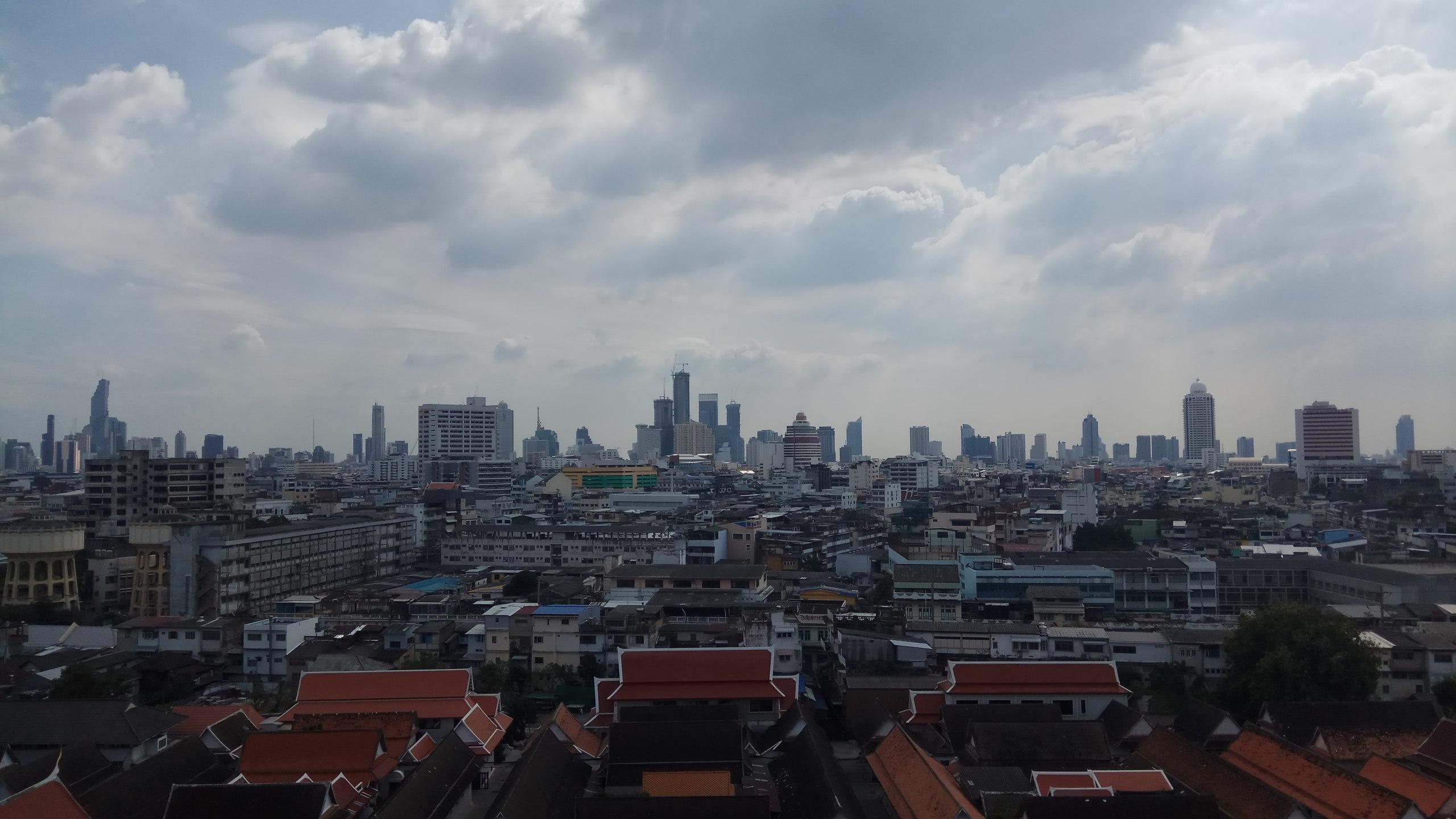 бангкок, таиланд, Храм Золотой Горы или Ват Сакет.