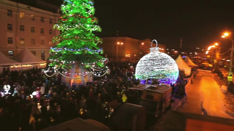 Новый год 2018 на пл. Минина, г. Н. Новгород