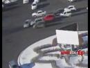 Столкновение трёх автомобилей на кольце 3-ей Рабочей записала камера наружного наблюдения