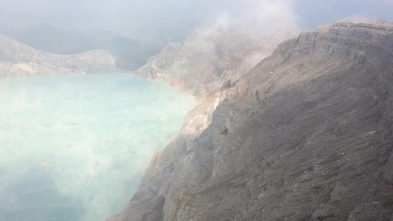 Вулкан Иджен 🌋 Панорама с хребта ☀️