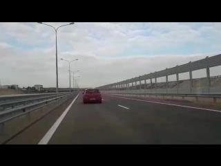 Крымский мост. поехали! спустя 1 час 25 минкт после его открытия. 16.05.2018 г. 655ам