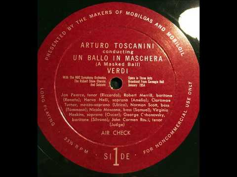 TOSCANINI: Rare 1954 Aircheck UN BALLO IN MASCHERA in Restored Sound