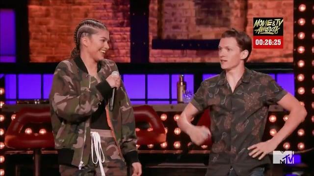 Tom Holland and Zendayas first lip sync battle performance