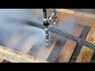 Высокотемпературная моечная машина Cumond с четырьмя специальными форсунками для очистки стального троса