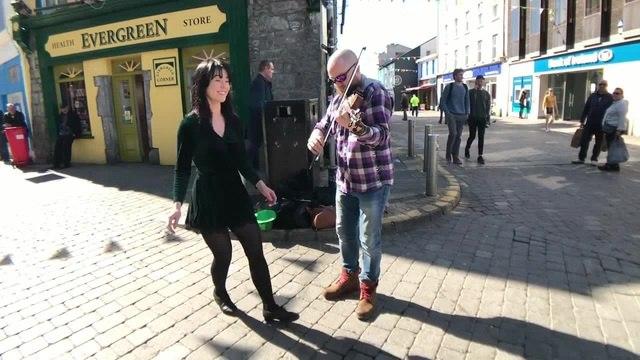 Irish step dance on the street