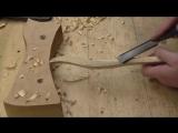 как сделать ложку с витой ручкой, резьба по дереву