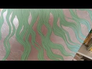 Даня Дунай Арт спящая в лилиях русалка процесс