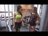 Как накачать попу...Тренировка Виктории Баулы и Влады Христенко...