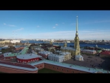 stock-footage-aerial-drone-video-with-view-of-peter-and-paul-fortress-in-st-petersburg-views-of-neva-river-finn