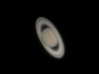 Сатурн, снятый на iPhone 6 через окуляр 70-сантиметрового телескопа (Перт, Западная Австралия)