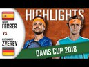David FERRER v Alexander ZVEREV HD Highlights DAVIS CUP 2018