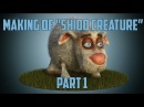 Creature concept in 3D-Coat. Skin in the Substance painter. Ornatrix fur. Vray render.