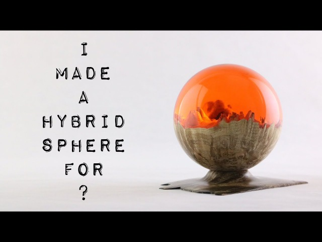 40 Hybrid Sphere 🌗 Burl Resin Red Dawn