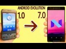 ANDROID EVOLUTION - 1.0 TO 7.0 NOUGAT!