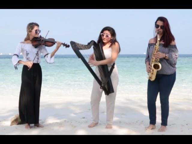 Despacito Cover (Harp, Saxophone Violin) by Sound Spirit Trio. For Shows 91 98207 46266