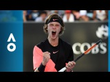 Marcos Baghdatis v Andrey Rublev match highlights (2R) Australian Open 2018