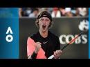 Marcos Baghdatis v Andrey Rublev match highlights 2R Australian Open 2018