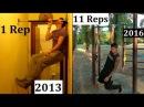 5 Years ONE ARM PULL UP Transformation (2013 - 2017) - Mohamed Steven Salek