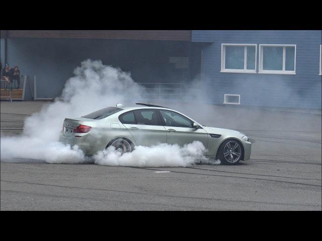 BURNOUTS DRIFTS - 2x BMW M5 E39, 2x M5 F10, M5 E60, M3 E90 in Action!