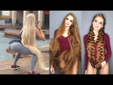 NEW !!! People With Ridiculously Long Hair, Extremely Long Hair, Sexy Hair Drop, Bun Drop 2018