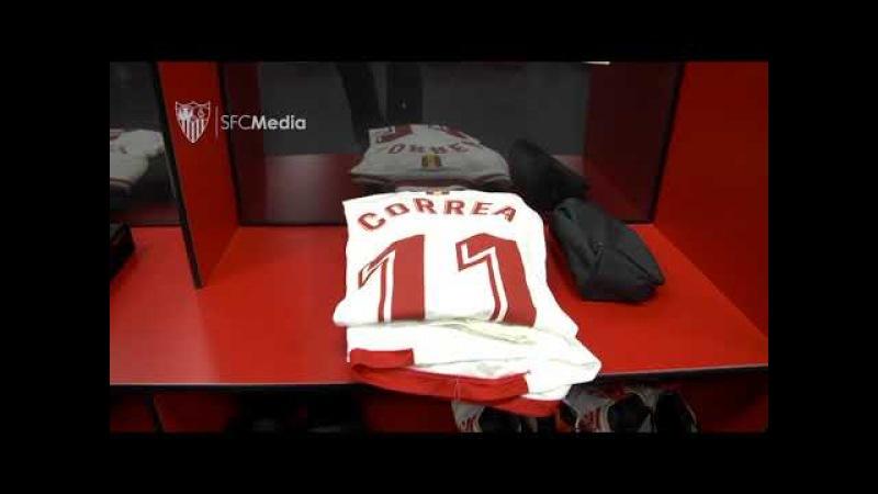 Vestuarios SFC partido Champions Manchester United 21 02 18 Sevilla FC