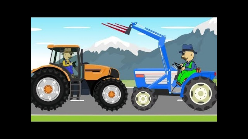 Farmer Fairy Tales For Kids | Collection of animation_Tractor | Bajka Przygody rolników 😗