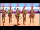 Russland Gruppe Bänder Bälle Quali GAZPROM Gymnastik Weltcup 2014