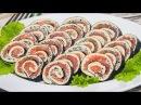 ЗАКУСКА НА ПРАЗДНИЧНЫЙ СТОЛ Рулет с красной рыбой Коллекция Рецептов