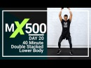 40 Minute Lower Body Strength and HIIT Cardio Superset Home Workout for Strong Legs MX500 20