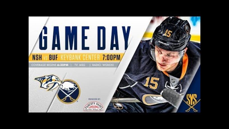 NHL 18 PS4. REGULAR SEASON 2017-2018: Nashville PREDATORS VS Buffalo SABRES. 03.19.2018. (NBCSN) !