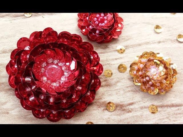 Chaton flor de lantejoulas flor de paetês
