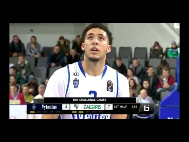 LiAngelo Ball And Lamelo Ball Debut With BC Vytautas Vs BC Zalgiris Full Game Highlights