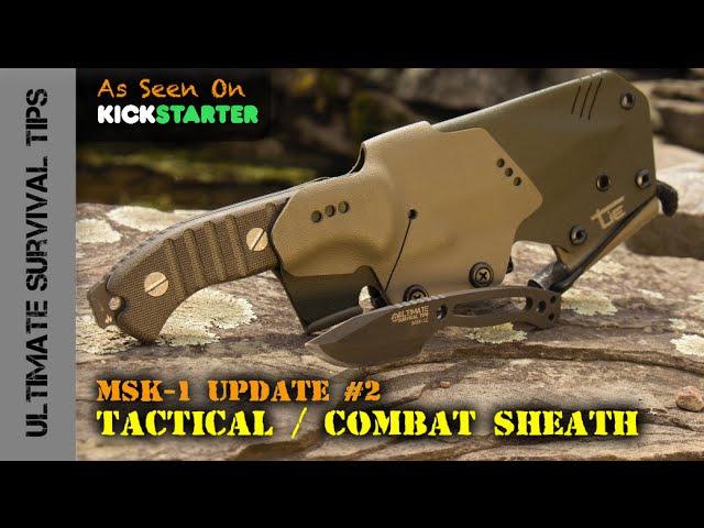 HARD-CORE MSK-1 Tactical / Combat Sheath Mini Paracord Survival Neck Knife