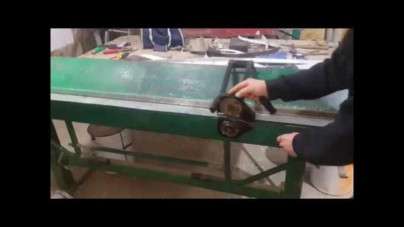 затачивание роликовых ножниц болгаркой