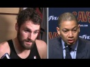 Kevin Love & Tyronn Lue Postgame Interview | Warriors vs Cavaliers | Jan15 | 2017-18 NBA Season