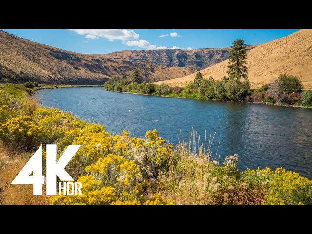 4K HDR Video - Yakima Canyon Road | Nature Relaxation with Ambient Music