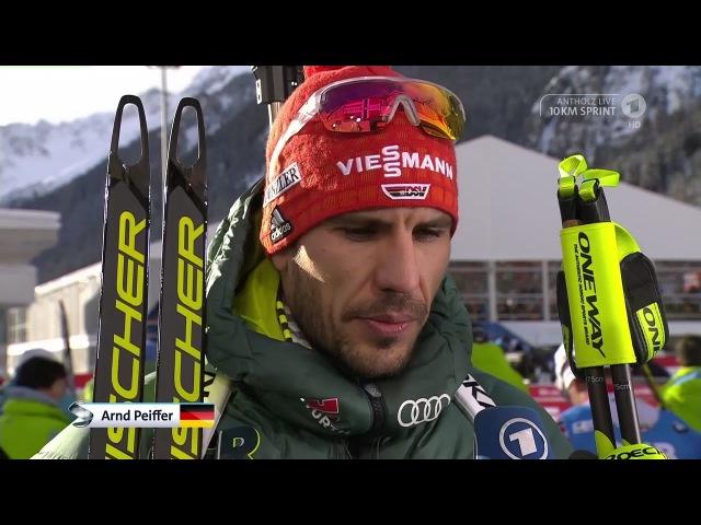 Antholz-2018. Comments from Erik Lesser and Arnd Peiffer after sprint