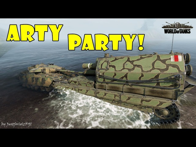 World of Tanks Funny Moments ARTY PARTY 53