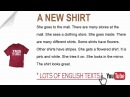 A New Shirt   Lots of English Texts with Audio